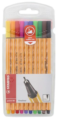 Fineliner Stabilo Point 88 10er-Set
