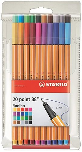 Fineliner Stabilo Point 88 20er-Set